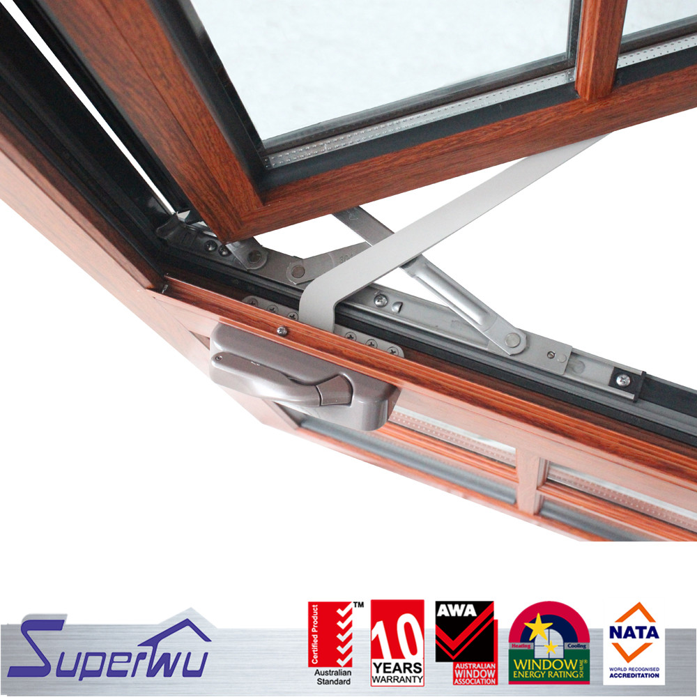 American design opening window two panels aluminium alloy casement window dual colored