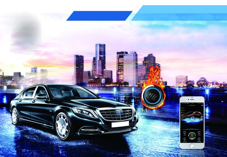 कार अलार्म बुद्धिमान शुरू, बंद करो स्मार्ट फोन ऑटो केंद्रीय ताला जीपीएस ट्रैकिंग का समर्थन आईएसओ या एंड्रॉयड मोबाइल कार अलार्म