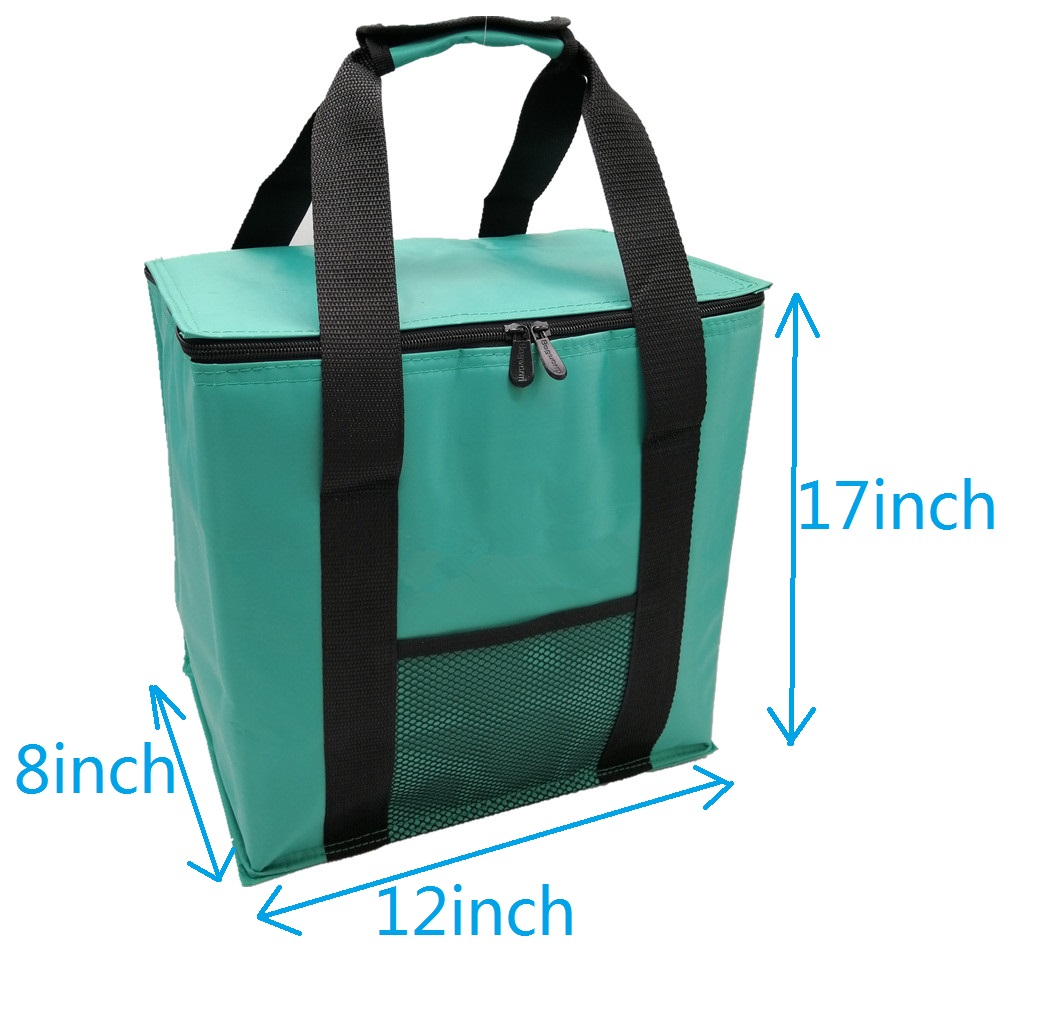 2020 New Fashion Custom Insulated Tote Roomy Heavy Duty Zip-Lock Bottle Beer Wine 6 Packs Cooler Bag With Mesh Pockets