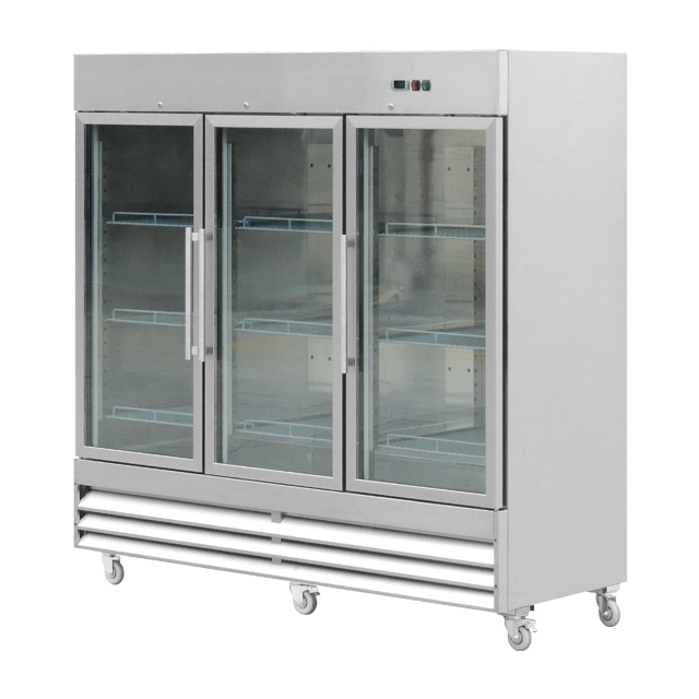 Air-cooled Glass Door <strong>refrigerator</strong>/upright commercial Supermarket for Seafood <strong>refrigerator</strong>