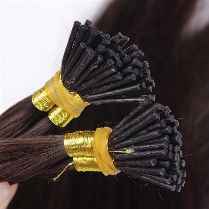 Italien starke kleber Vor Verbundenes Spitze ICH Haar Extensions 1g/Stick Spitze Cold Haar 100% Reines Häutchen Remy keratin Menschliches Haar extensions