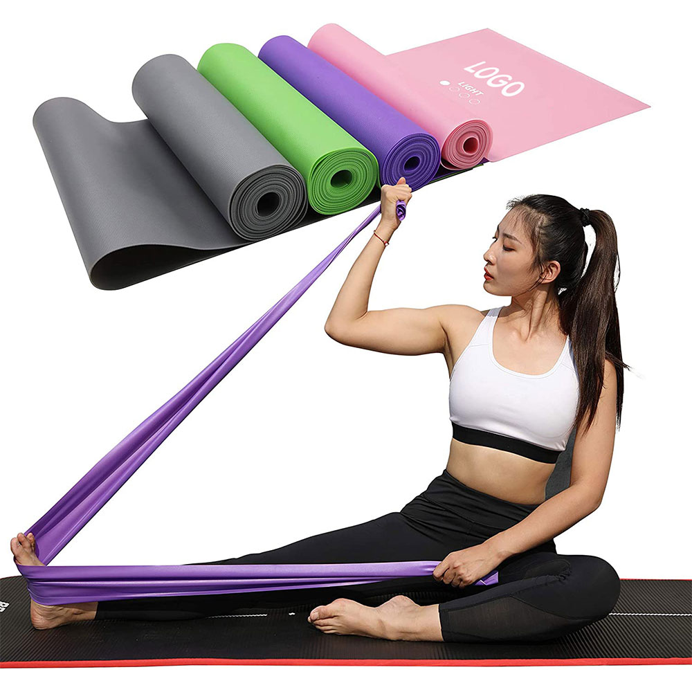 Hot selling custom elastic home workout yoga pilates bands