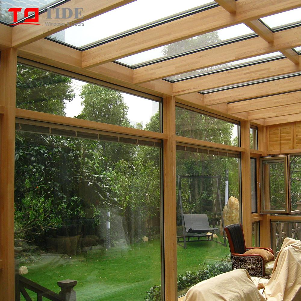 De Lujo Fabricado De Aluminio De Madera Y Terraza Jardín Habitación Con Vidrio Aislante Buy Sunroom De Lujo Fabricado De Aluminio Y Madera Ventanas