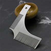 Stainless Steel Men's Beard Shaping Comb Beard Modeling Template Comb Beard Trimming Tools