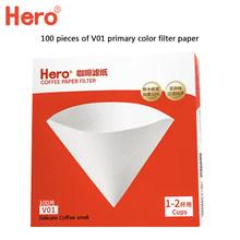 Фильтровальная бумага из древесной целлюлозы для кофе V60 капельная бумага дриппер бариста для кофе эспрессо кофе с пивоварней кухонные при...(Китай)