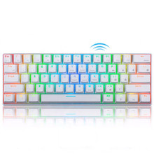 Mechanische 60% <span class=keywords><strong>RGB</strong></span> Kleine Kompakte 61 Tasten Wired/Wireless Bluetooth tastatur Mini Tragbare Mechanische Gaming Tastatur