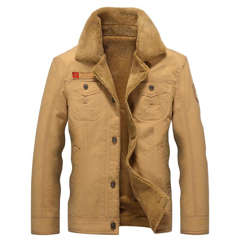 2020 sıcak satış kış erkek sıcak kürk yaka 5XL askeri kargo ceket dış giyim Parka pamuk kapitone ceket