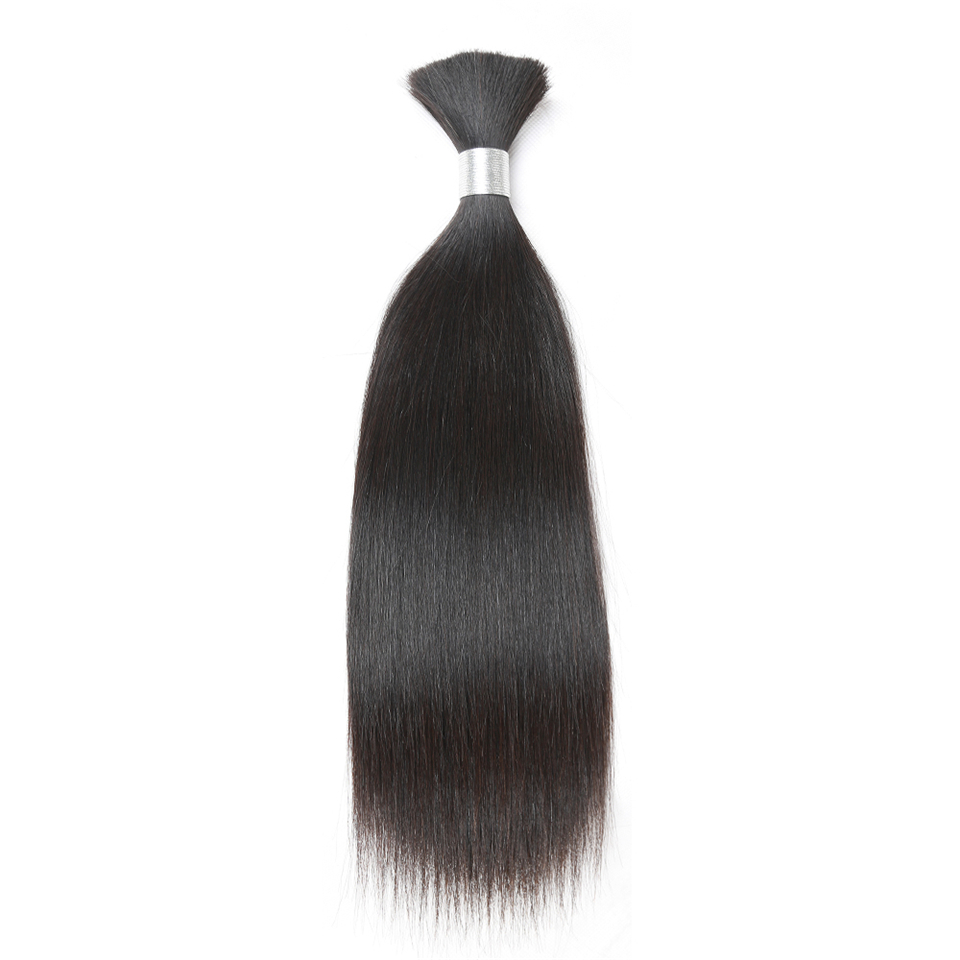 Human Braiding Hair Bulk Remy Indian Straight Hair Bulk 1 Pc No Weft Hair Bundles 10 To 30 Inch Free Shipping