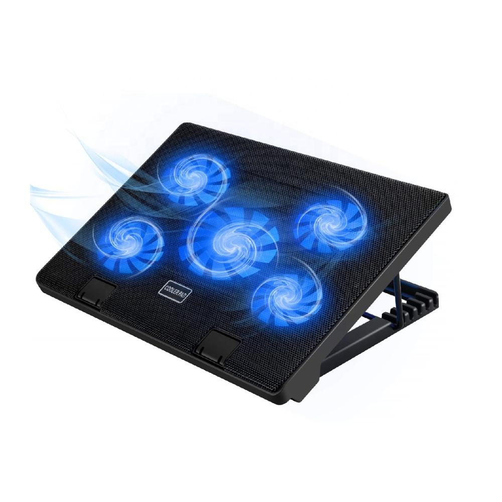 MoKo <strong>Laptop</strong> cooler 5 silent <strong>fans</strong> usb <strong>laptop</strong> <strong>cooling</strong> pad ajustable gaming notebook cooler <strong>for</strong> <strong>laptop</strong> up to 17 inch