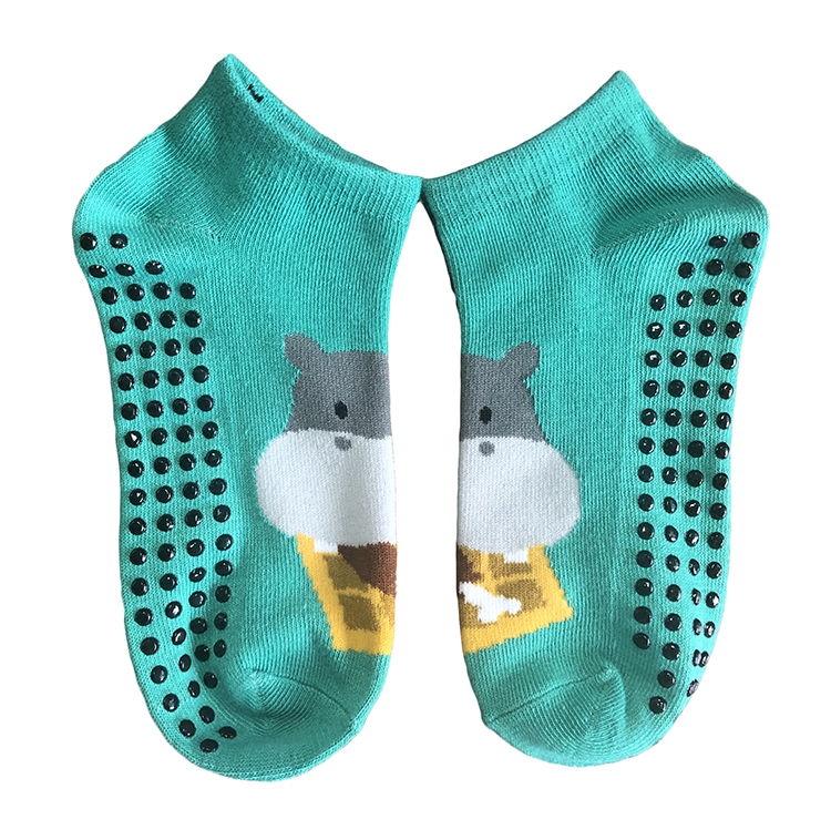 Unisex Non Slip Grip Socks for Yoga Hospital Pilates Barre Ankle Cushioned Socks