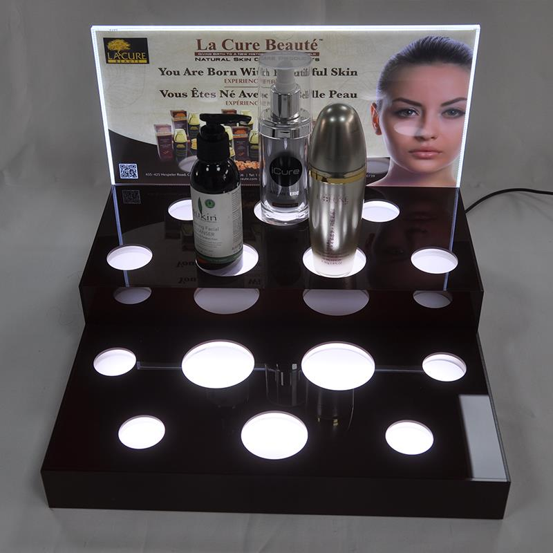 Loreal acrylic mac makeup display stand for rouge/good sale makeup stand
