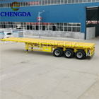 3 Axle 48Ft 45Ft 40Ft 12M Flatbed Semi Trailer For Sale