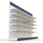 Professional manufacture store display racks steel display stand gondola shelf price
