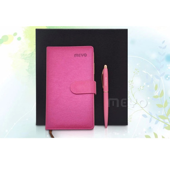 Client gift red notebook with pen unique gifts for women
