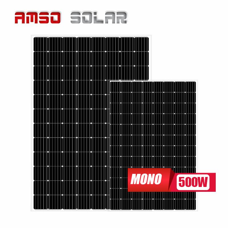 고품질 500w 모노 crystallines 태양 전지판을위한 태양 패널 monocrystalline 48.63v 500w 태양 전지 패널