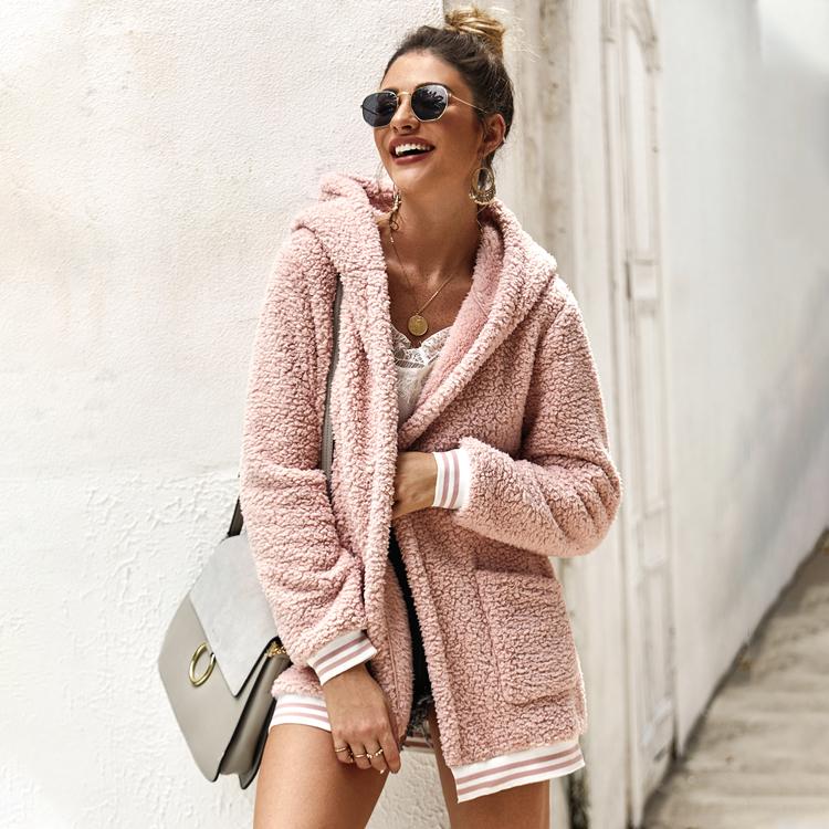 अशुद्ध फर कोट महिलाओं शरद ऋतु सर्दियों शराबी टेडी जैकेट कोट प्लस आकार लंबी आस्तीन ऊपर का कपड़ा बारी नीचे छोटी कोट महिला