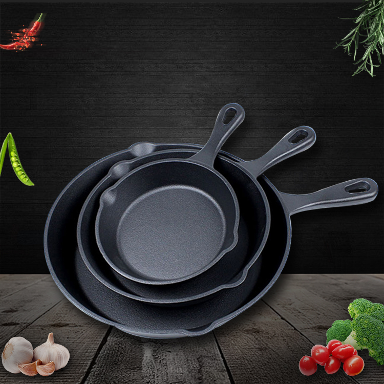 cast-iron skillet egg frying pan set for induction cookers