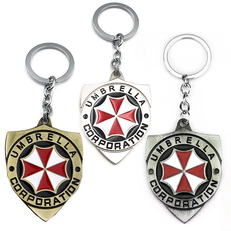 Resident Evil Umbrella Corporation Chaveiro Esmalte