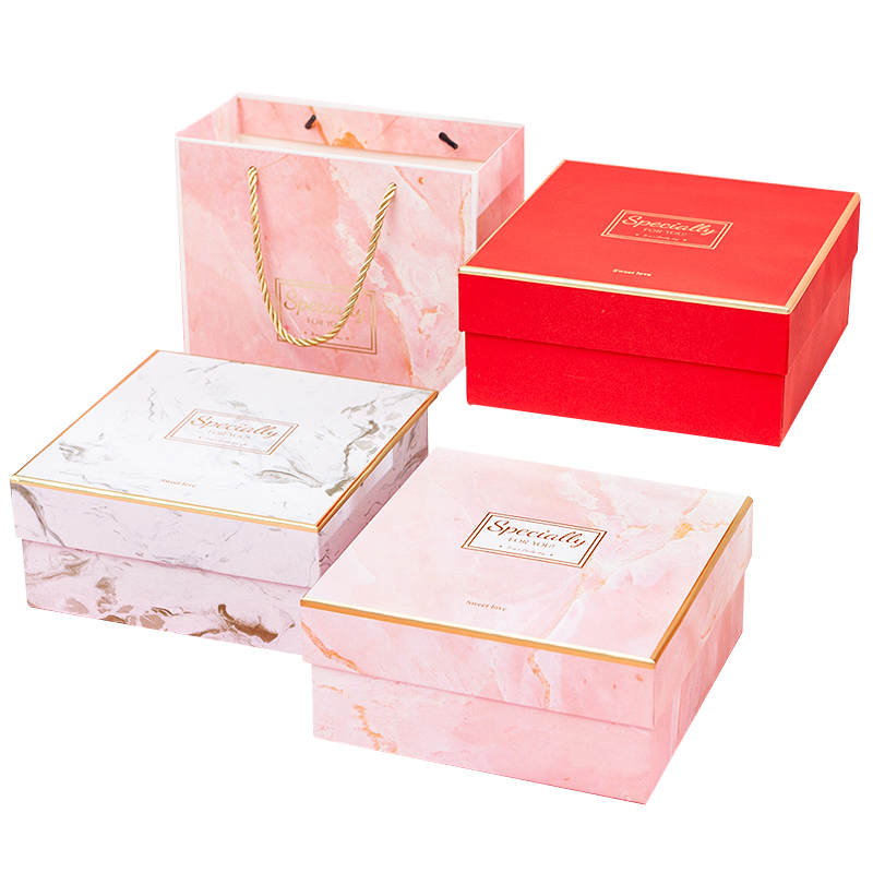 Fashion colorful jewelry ring earring cardboard gift box cute wedding packaging custom logo print paper wholesale gift box