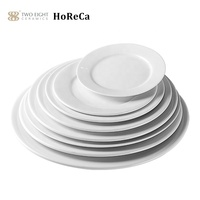 Hosen Manufacturer Restaurant Hotel White Porcelain Dinnerware Plate, Custom Wholesale Bulk Wedding Ceramic White Dinner Plate~