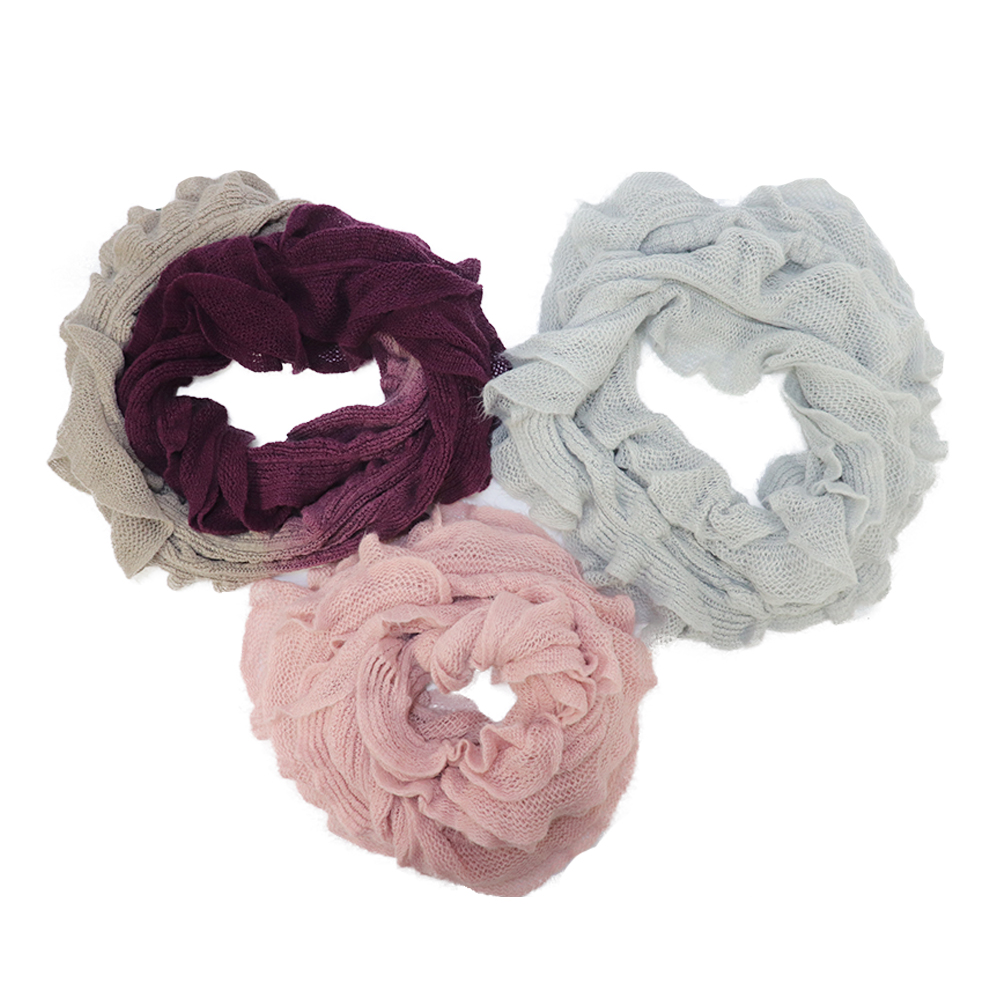 wholesale dip dye snood women knitting neck warmer