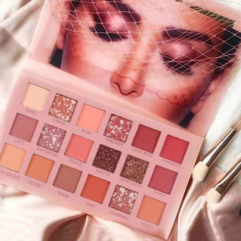 Wholesale Free Sample Fashion Matt Nude Pigmented Glitter Customized Private Label Make Up Eye Shadow Palette