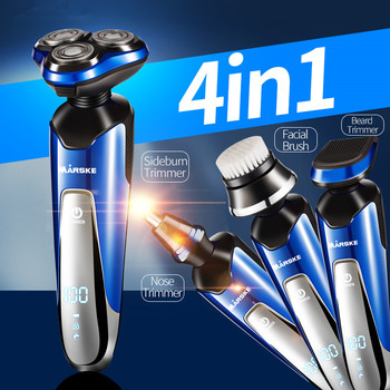 High Quality Rechargeable Washable 3D Floating Blade Electric Shaver For Men