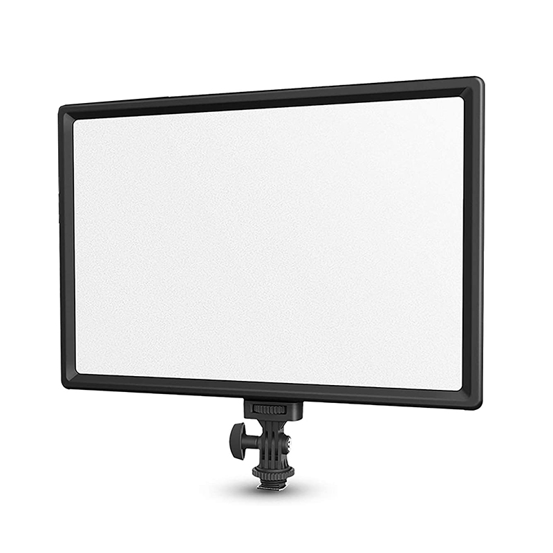 Desk Mount C-clamp Rechargeable Super Slim LED Video Light Soft Lighting LED Panel with LCD Display for Youtube Tik Tok Video