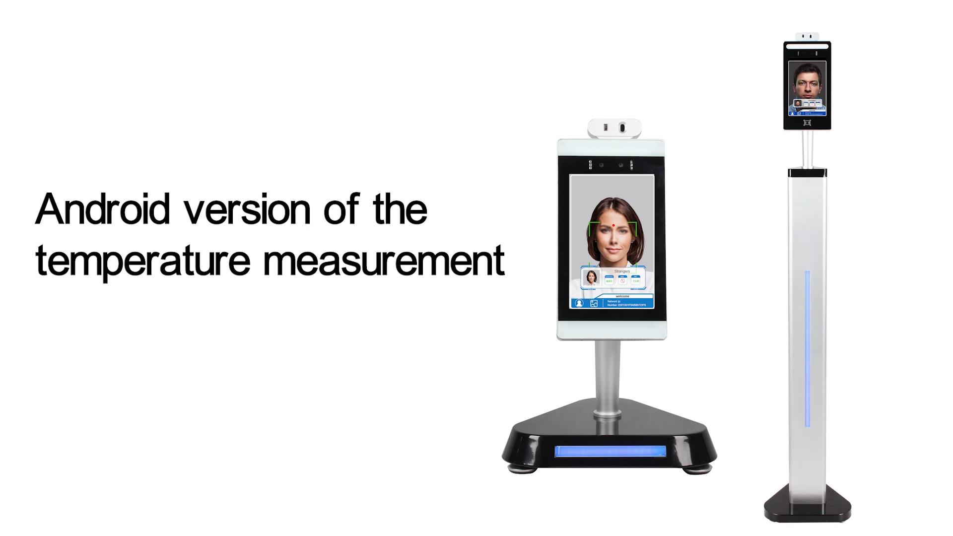 Niet Contact Body Temperatuur Scanner 8 Inch Lcd Thermometer Gezichtsherkenning Camera Systeem