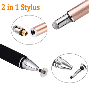 Promotional Gift Custom Logo Metal Disc Stylus Pens For Business With Replacement Tip