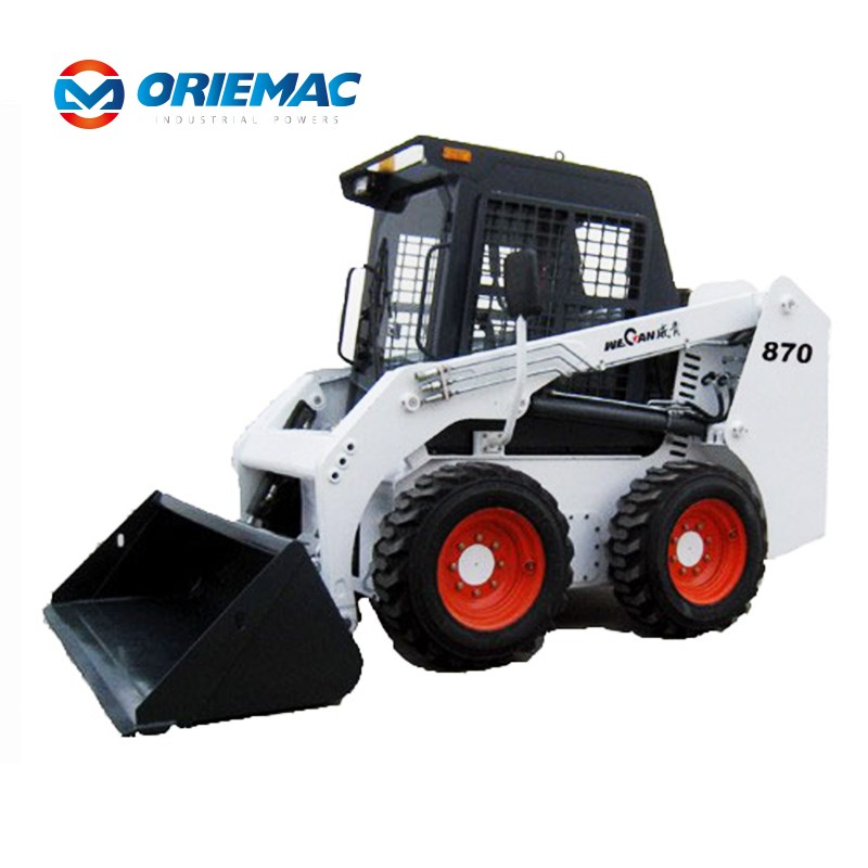 WECAN TS100 Clawler skid steer loader with grapple Indonesia