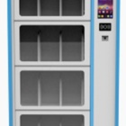 Smart Food And Beverage Vending Machine With Customized Board Gold Cabinet