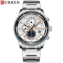 Новые мужские часы CURREN, брендовые кварцевые часы с хронографом, мужские водонепроницаемые спортивные часы из нержавеющей стали, деловые ча...(Китай)