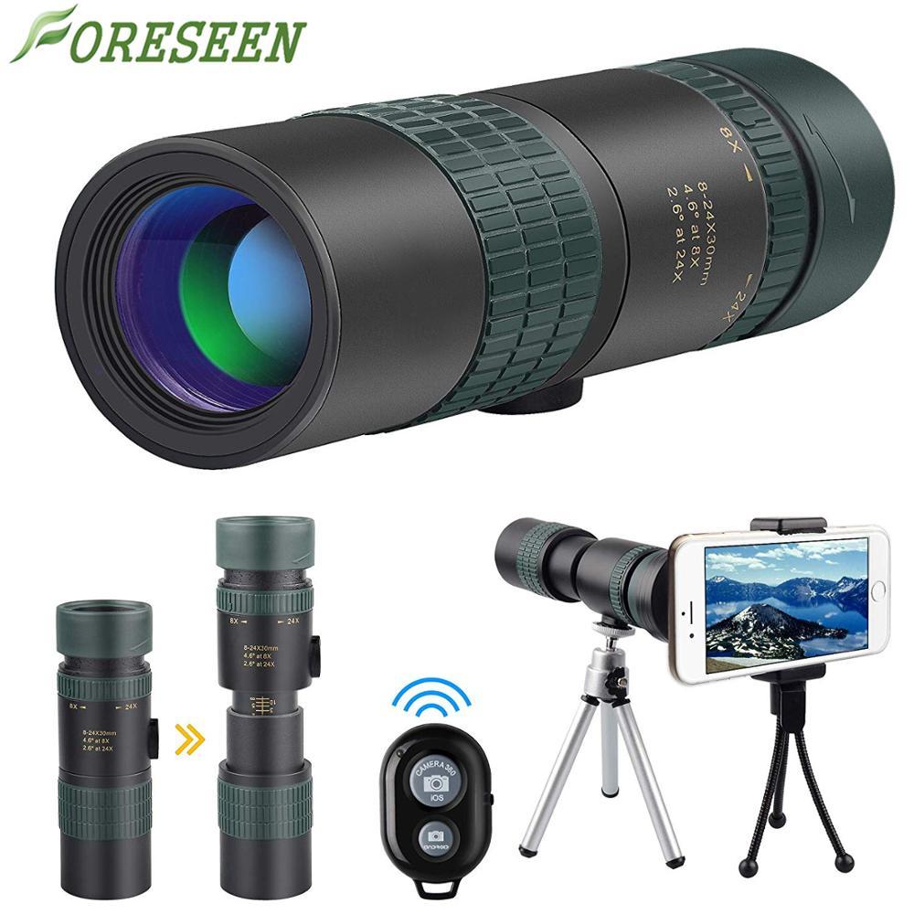 Amazon Heet Verkoop 8-24x30 HD Goede Mini Mobiele/Telefoon Zoom Monoculaire Telescoop Met Statief