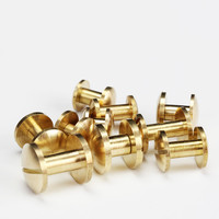 Flat Head Dia 8mm 10mm High Quality Low Lead Brass Chicago Screw for belt