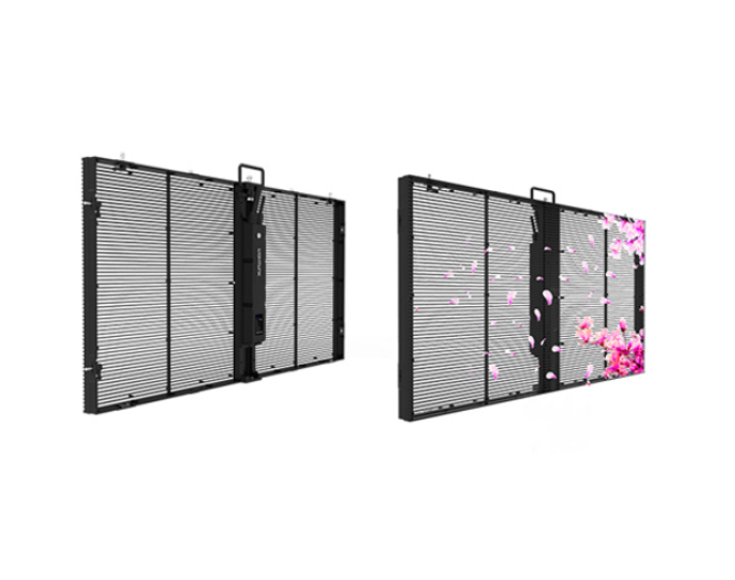 Led transparent indoor and outdoor glass display full-color electronic <strong>screen</strong>