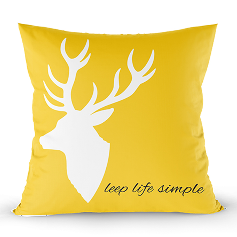 2019 new design Christmas print cushion for gift soft pillow