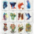 Colorful animal tattoo stickers waterproof arm shoulder chest back leg sexy stickers support custom pattern body tatoo sticker
