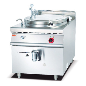 Hotel Restaurant Kitchen Commercial Industrial Stainless Steel Cooking Equipment 100L Electric Soup Steam Kettle