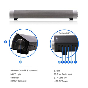Egreat IP-08 Soundbar Wireless BT4.1 Subwoofer Speaker 40cm HiFi Portable Speaker