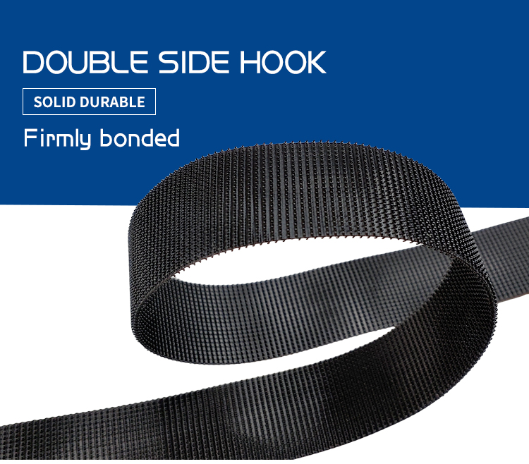 100% Nylon Free Samples Black White Durable Double Sided Hook And Loop For Stable Sofa Cushion