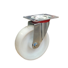 Single Ball Bearing 3 4 5 Inch PU Industrial Lock Swivel Caster