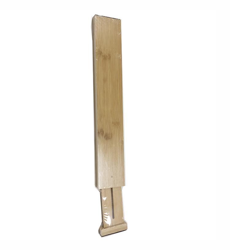 4 Adjustable Expandable Drawer Dividers Bamboo Organizer Set