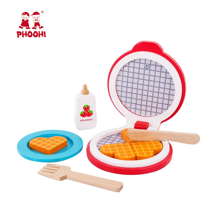 ילדי ופל יצרנית סימולציה עץ מטבח אביזרי להעמיד פנים לשחק צעצוע לילדים