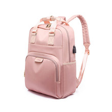 Стильный водонепроницаемый рюкзак для ноутбука 15,6 женский модный рюкзак для девочек черный рюкзак женская большая сумка 13 13,3 14 15 дюймов роз...(Китай)