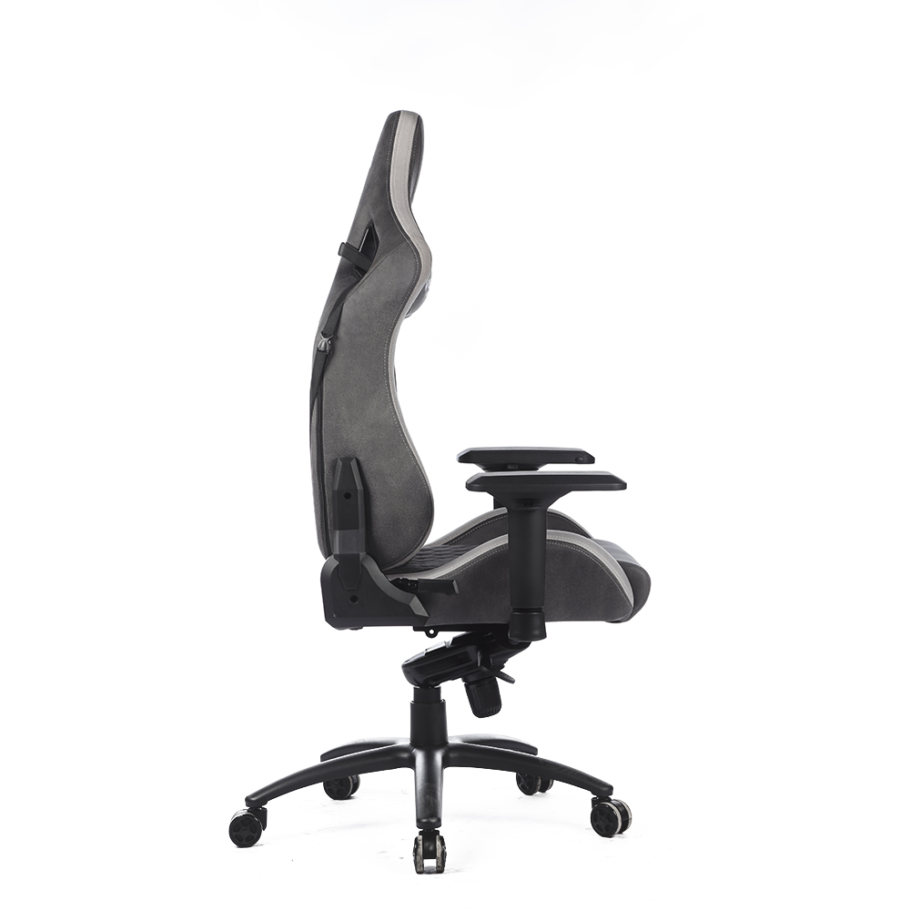 2020 high-end waterproof velvet fabric multi-functional mechanism memory foam metal frame 4D armrest gaming chair with cushion