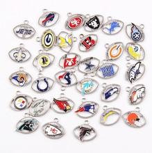 Nouvelle coutume 32 conceptions football Américain NFL pendentif <span class=keywords><strong>charmes</strong></span>