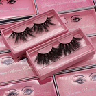 Free Sample Free Sample Private Label Full Strip False Eye Lashes Vendor 100% Real 3D 5D 25mm 25 Mm Mink Eyelashes With Custom Packing Box
