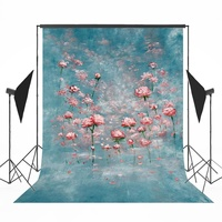 Floral Vinyl Photography Backdrop Newborns Photo Printed Background Children Photoshoot Backdrop