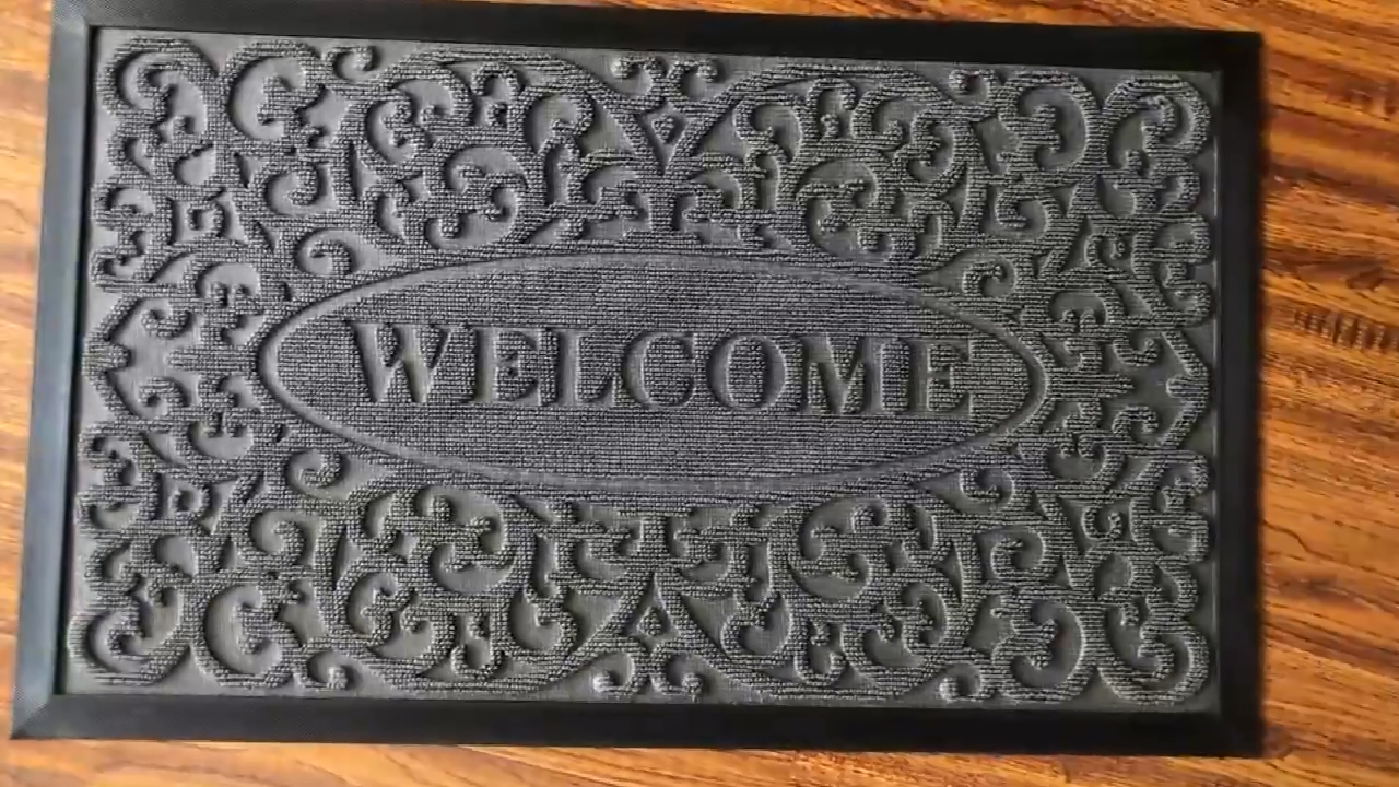Best Sell european style washable rubber welcome door mat